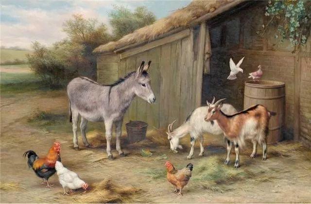 院子里的家禽,英国画家埃德加·亨特插图136