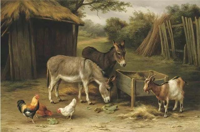 院子里的家禽,英国画家埃德加·亨特插图142