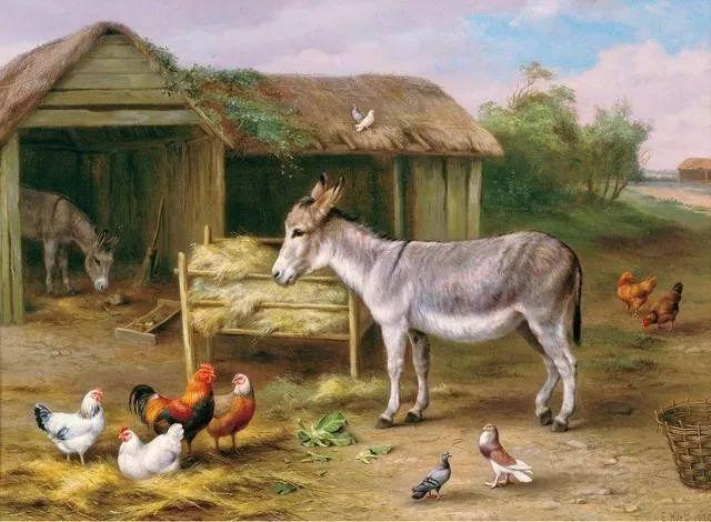 院子里的家禽,英国画家埃德加·亨特插图148