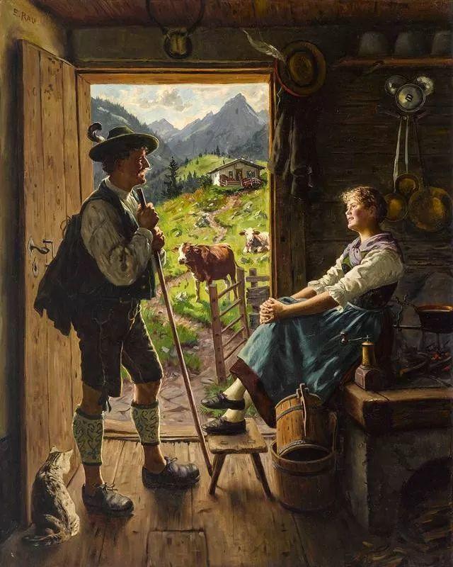 淳朴的生活,德国画家埃米尔·卡尔·劳插图1