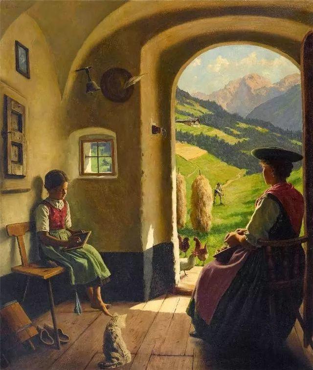 淳朴的生活,德国画家埃米尔·卡尔·劳插图3