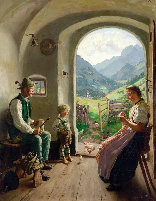 淳朴的生活,德国画家埃米尔·卡尔·劳插图5