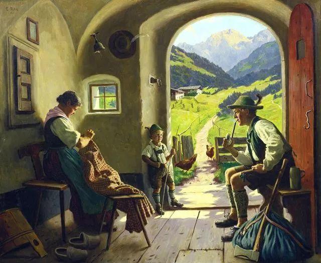 淳朴的生活,德国画家埃米尔·卡尔·劳插图7