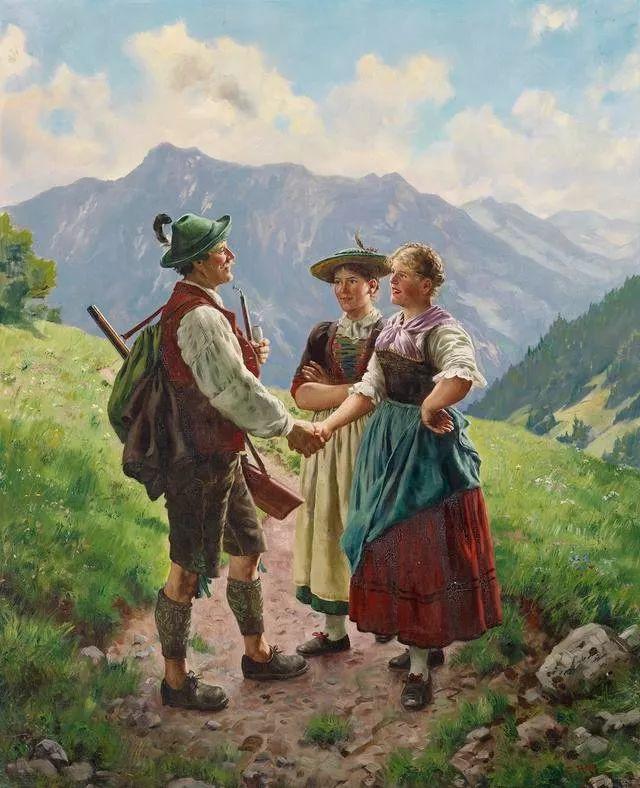 淳朴的生活,德国画家埃米尔·卡尔·劳插图9