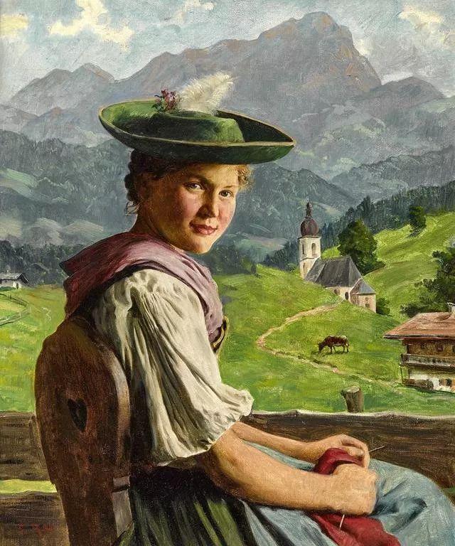 淳朴的生活,德国画家埃米尔·卡尔·劳插图11