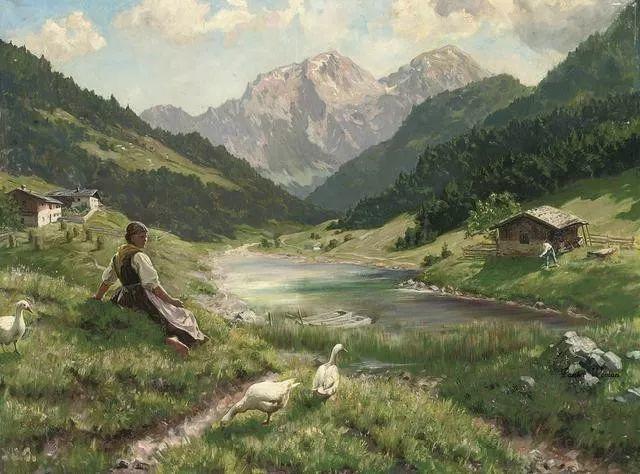 淳朴的生活,德国画家埃米尔·卡尔·劳插图15