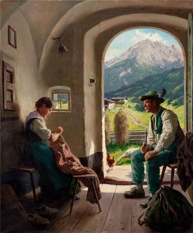 淳朴的生活,德国画家埃米尔·卡尔·劳插图17