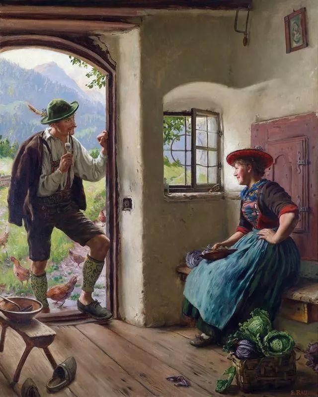 淳朴的生活,德国画家埃米尔·卡尔·劳插图19