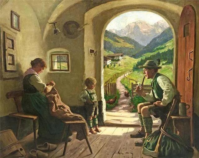 淳朴的生活,德国画家埃米尔·卡尔·劳插图23