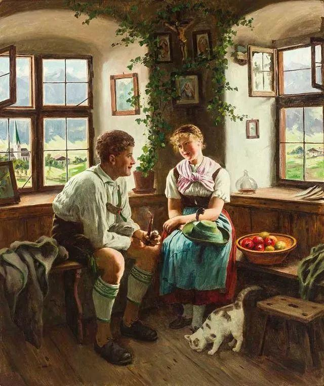 淳朴的生活,德国画家埃米尔·卡尔·劳插图27