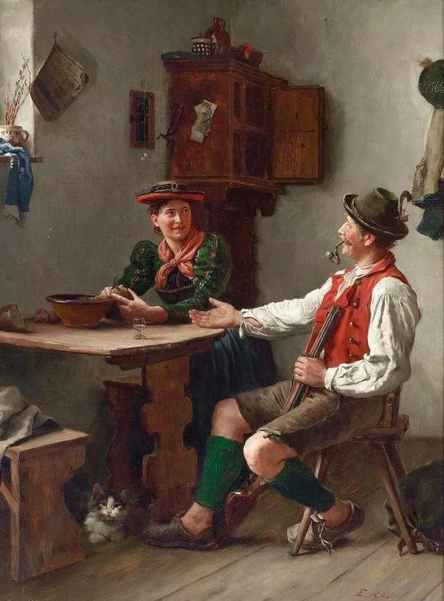 淳朴的生活,德国画家埃米尔·卡尔·劳插图31