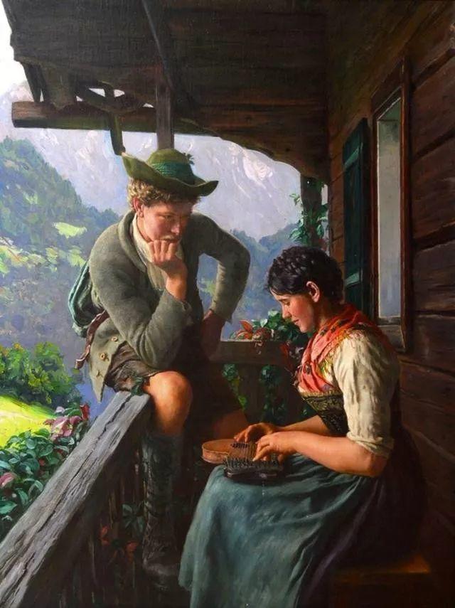 淳朴的生活,德国画家埃米尔·卡尔·劳插图33