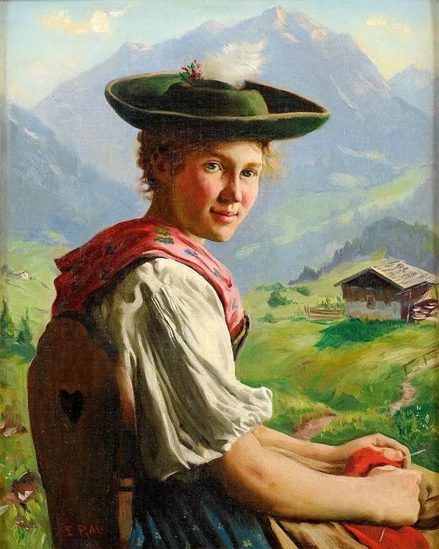 淳朴的生活,德国画家埃米尔·卡尔·劳插图35