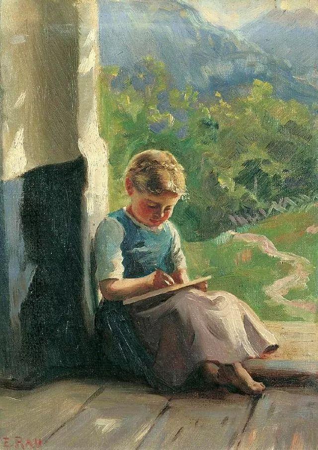淳朴的生活,德国画家埃米尔·卡尔·劳插图37