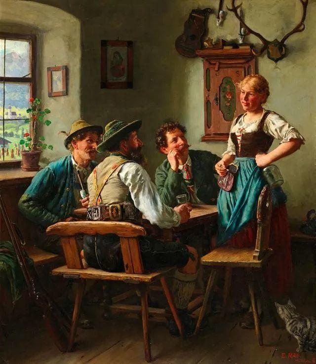 淳朴的生活,德国画家埃米尔·卡尔·劳插图43