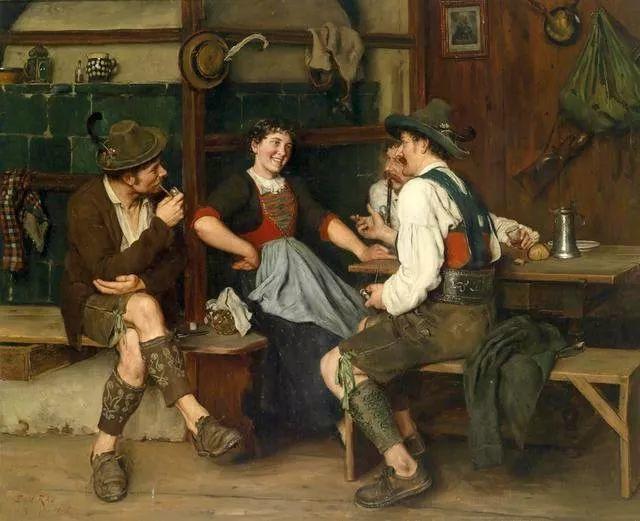 淳朴的生活,德国画家埃米尔·卡尔·劳插图49