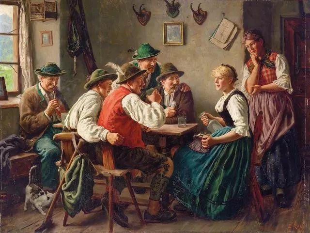 淳朴的生活,德国画家埃米尔·卡尔·劳插图51