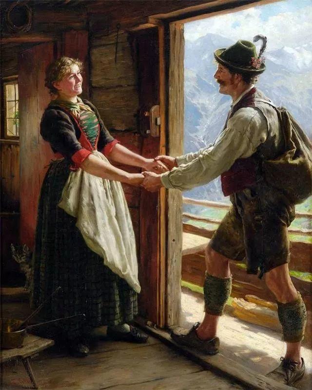 淳朴的生活,德国画家埃米尔·卡尔·劳插图57
