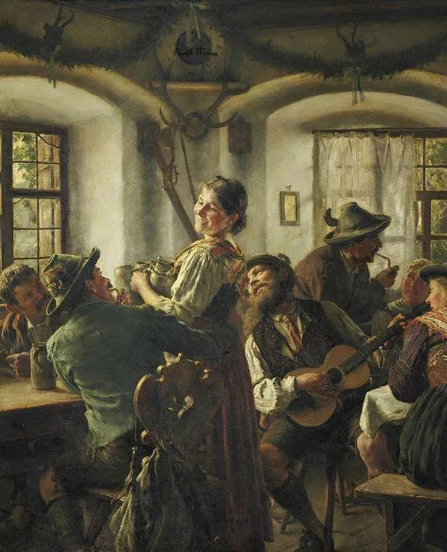 淳朴的生活,德国画家埃米尔·卡尔·劳插图65