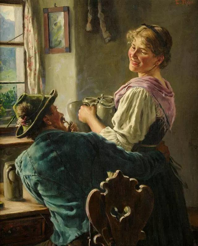 淳朴的生活,德国画家埃米尔·卡尔·劳插图67