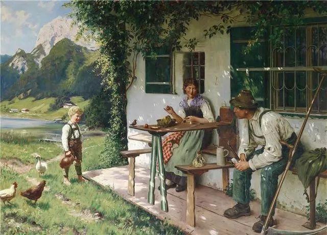 淳朴的生活,德国画家埃米尔·卡尔·劳插图69