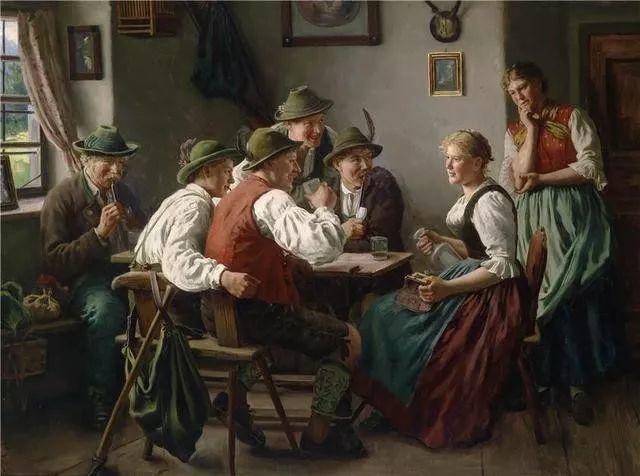 淳朴的生活,德国画家埃米尔·卡尔·劳插图73