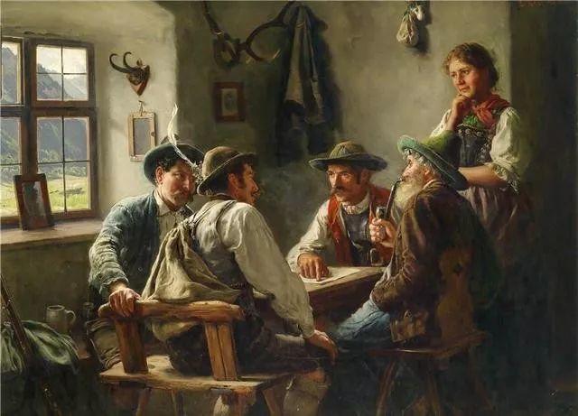 淳朴的生活,德国画家埃米尔·卡尔·劳插图77