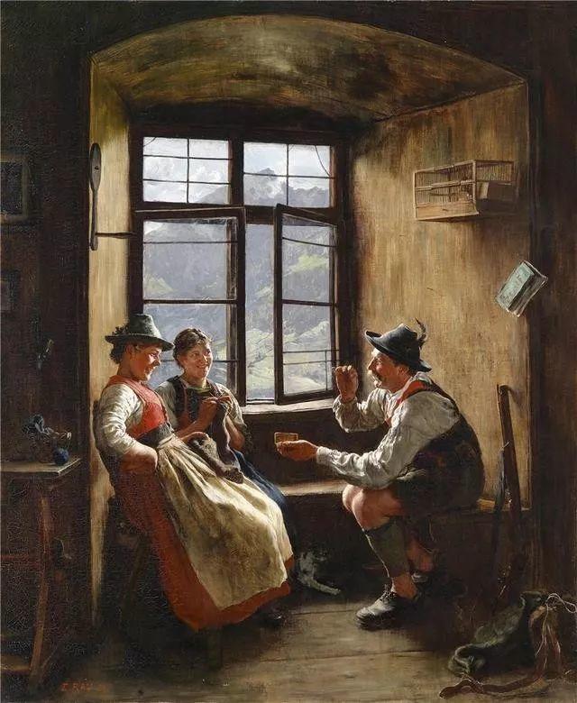 淳朴的生活,德国画家埃米尔·卡尔·劳插图81