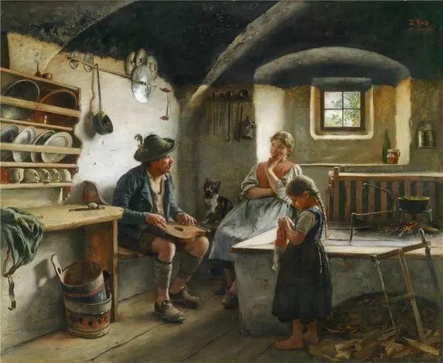 淳朴的生活,德国画家埃米尔·卡尔·劳插图89