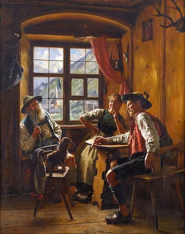 淳朴的生活,德国画家埃米尔·卡尔·劳插图99