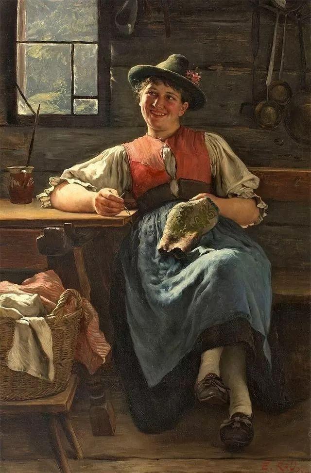 淳朴的生活,德国画家埃米尔·卡尔·劳插图105