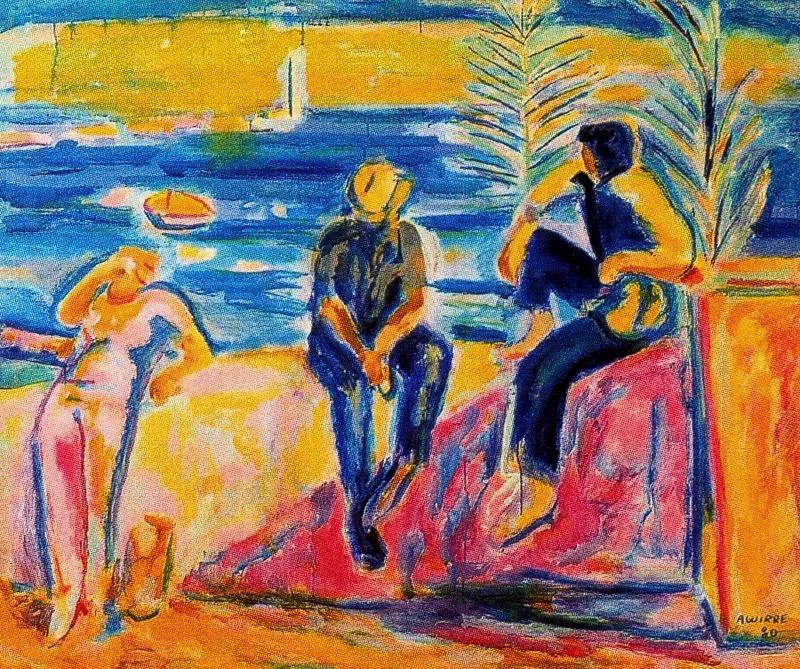 鲜艳的颜色和模糊的形状,极具象征性!西班牙画家胡安·阿吉雷插图