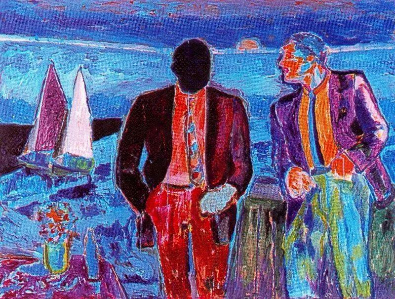 鲜艳的颜色和模糊的形状,极具象征性!西班牙画家胡安·阿吉雷插图6