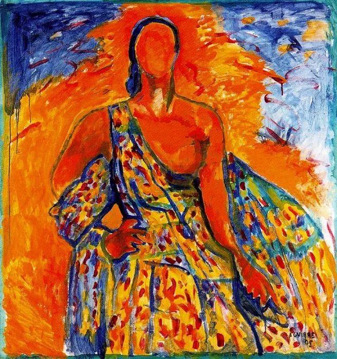 鲜艳的颜色和模糊的形状,极具象征性!西班牙画家胡安·阿吉雷插图12