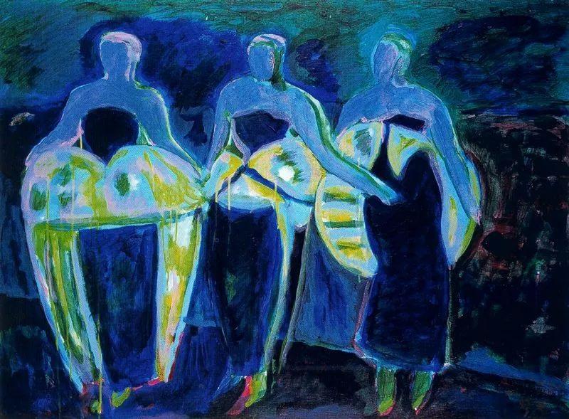 鲜艳的颜色和模糊的形状,极具象征性!西班牙画家胡安·阿吉雷插图17