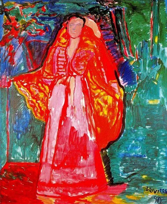 鲜艳的颜色和模糊的形状,极具象征性!西班牙画家胡安·阿吉雷插图20