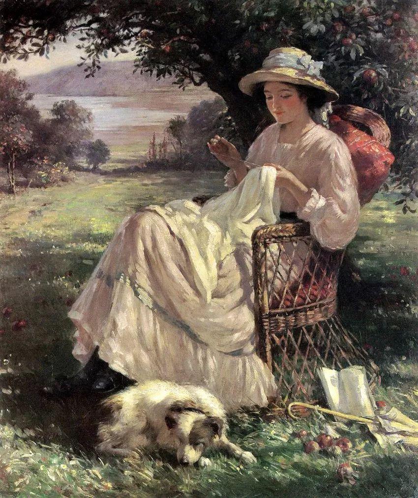 慢生活,英国画家威廉·凯·布莱克洛克插图