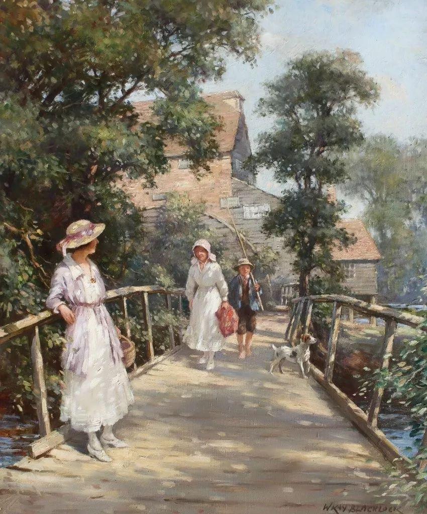 慢生活,英国画家威廉·凯·布莱克洛克插图1