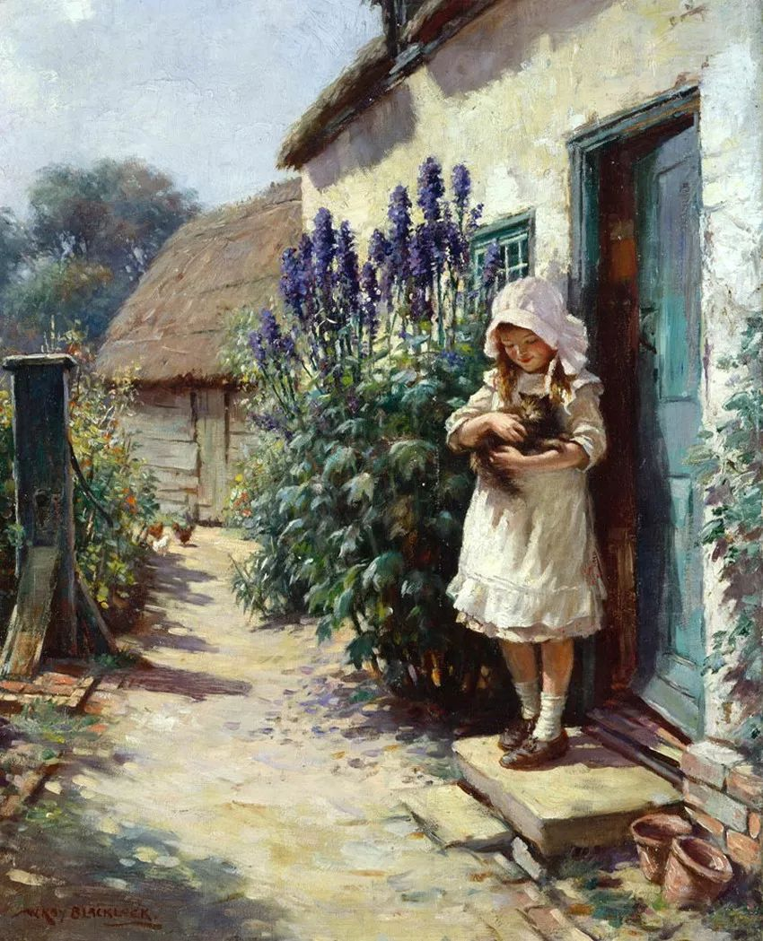 慢生活,英国画家威廉·凯·布莱克洛克插图4