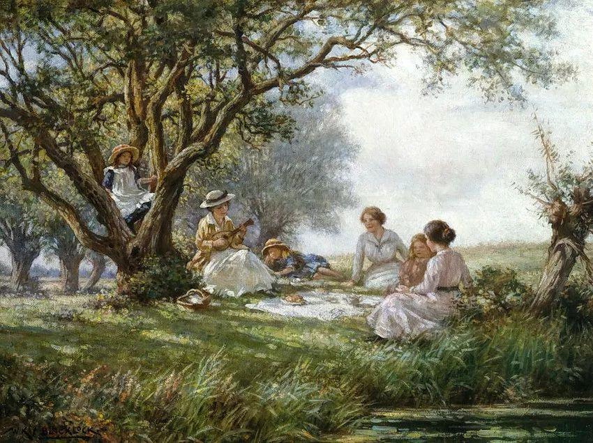 慢生活,英国画家威廉·凯·布莱克洛克插图6