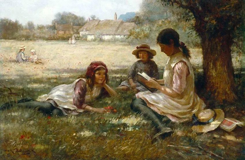 慢生活,英国画家威廉·凯·布莱克洛克插图11