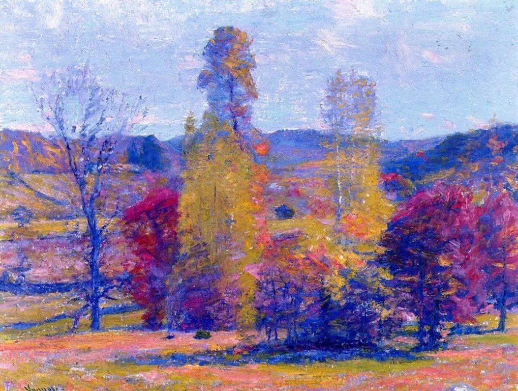印象派风景,美国画家Robert Vonnoh插图5