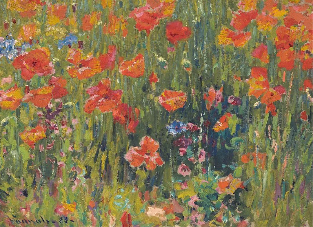 印象派风景,美国画家Robert Vonnoh插图19