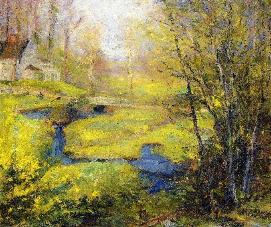 印象派风景,美国画家Robert Vonnoh插图31