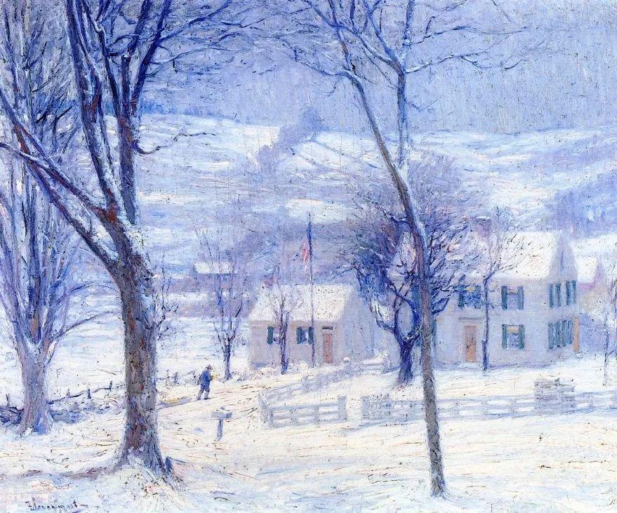 印象派风景,美国画家Robert Vonnoh插图33