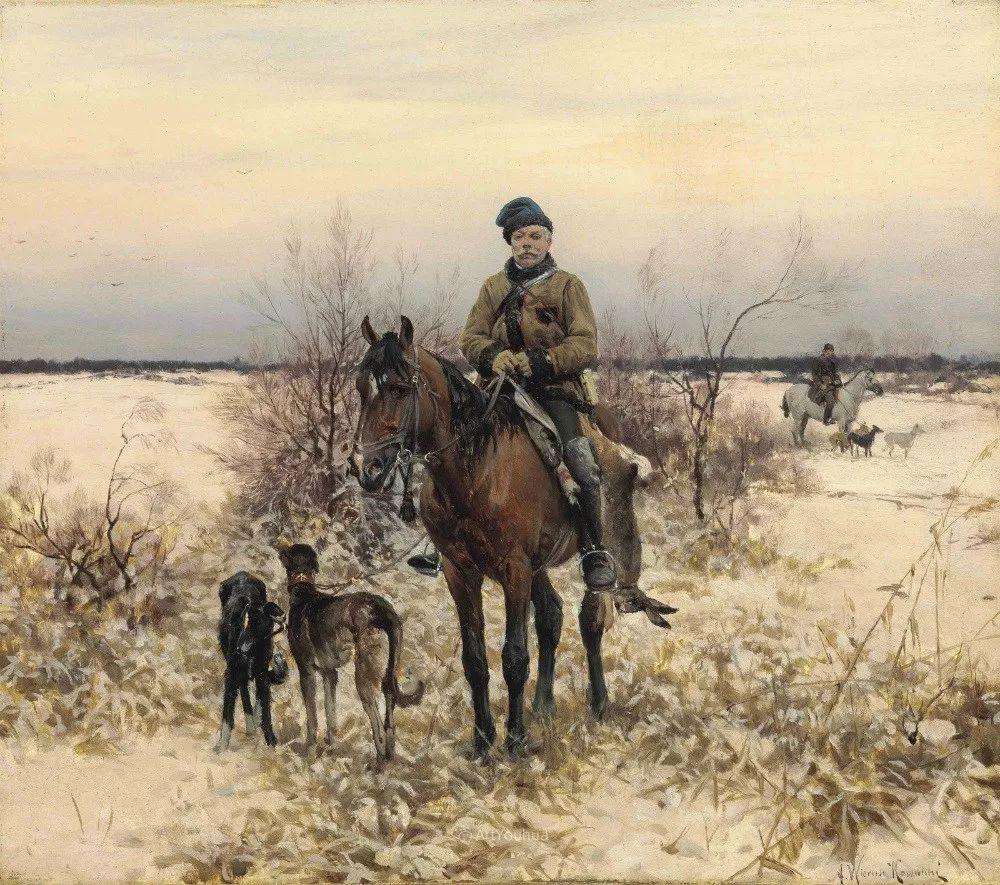 马拉雪橇,波兰艺术家科瓦尔斯基插图9