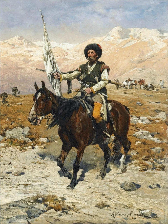 马拉雪橇,波兰艺术家科瓦尔斯基插图11