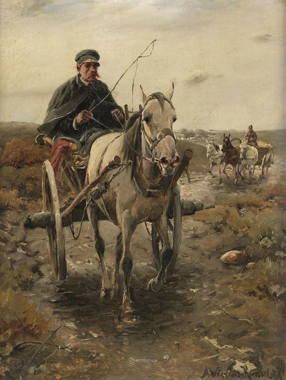 马拉雪橇,波兰艺术家科瓦尔斯基插图12