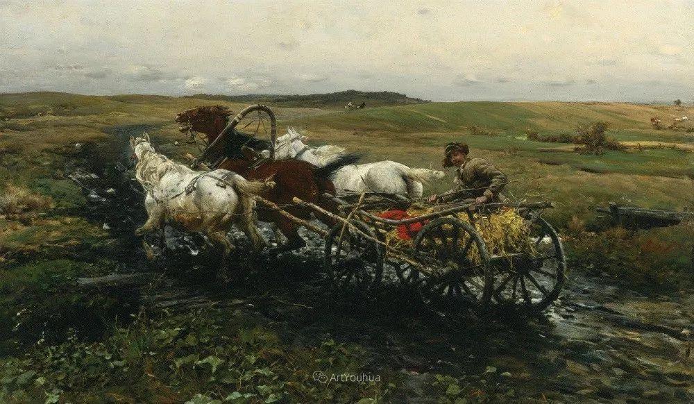 马拉雪橇,波兰艺术家科瓦尔斯基插图16