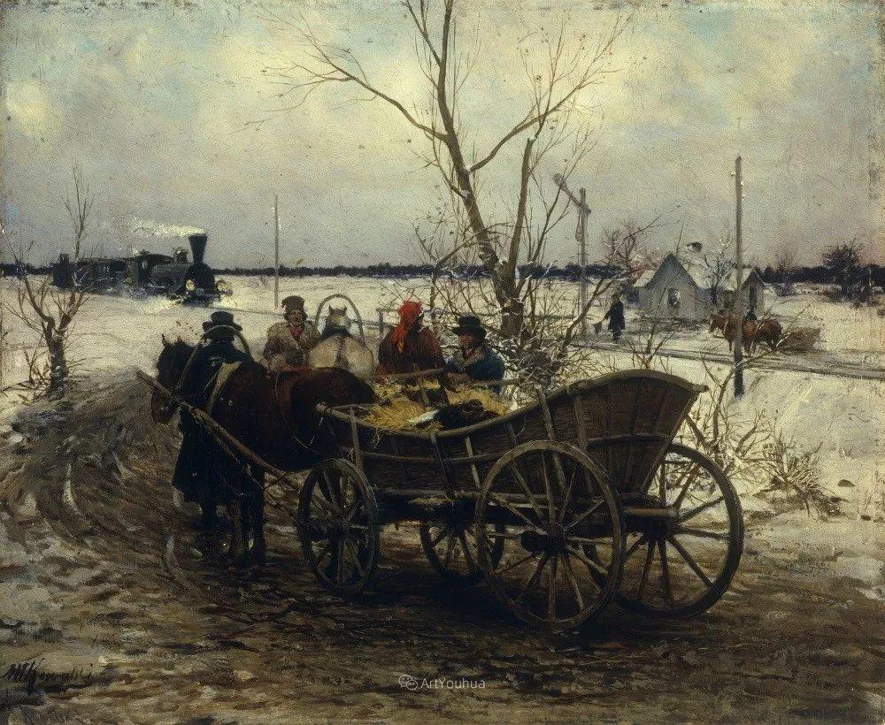马拉雪橇,波兰艺术家科瓦尔斯基插图18